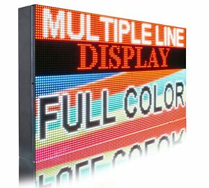 Indoor P6 Full Color 16 X 61 Pc Programmable Open Led Video Logo Text Sign