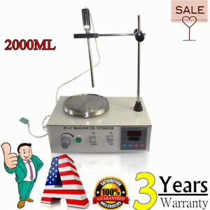 85 2 Hot Plate Magnetic Stirrer Mixer Stirring Laboratory 2000ml 110v Usa