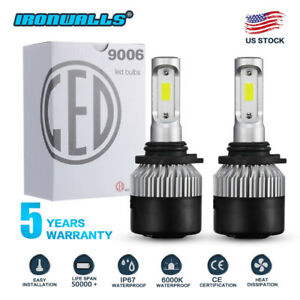 Cree Led Headlight Kit 9006 Hb4 9012 6000k 1620w 243000lm Fog Bulbs Pair Hid