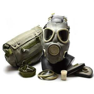Polish Military Gas Mask Mp 4 Genuine Respiratory Chemical Grey Olive Od New