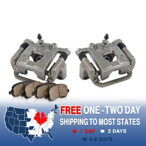 Rear Quality Oe Brake Calipers And Ceramic Pads Pair For Nissan Maxima Altima
