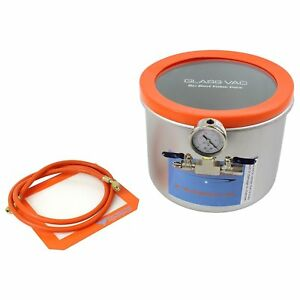 Best Value Vacs Glass Vac 3 Gallon Wide Stainless Steel Vacuum Chamber