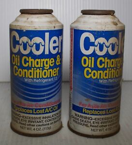 Two Cans Auto Ac Oil Charge Conditioner R12 Refrigerant 4oz
