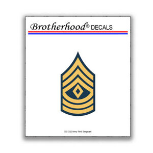 Army First Sergeant 1sg Rank E8 Military Insignia Decal Collection
