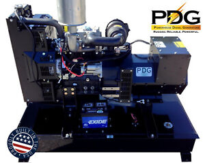 14kw Diesel Generator Perkins With 25 Gallon Fuel Tank And 2 Wire Auto Start