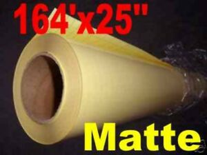 Matte Cold Roll Laminating Film 25 x164 For Cold Laminator 1 Roll