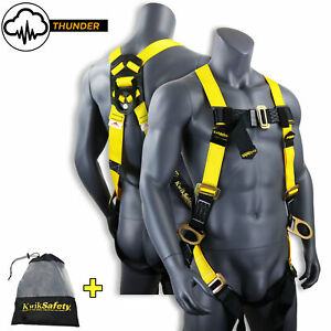 Kwiksafety Thunder Ansi Fall Protection 3 d Ring Construction Safety Harness