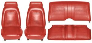 1969 Camaro Coupe Standard Interior Seat Cover Kit Oe Quality Red