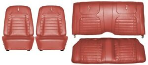 1968 Camaro Deluxe Interior Seat Cover Kit Oe Quality Red