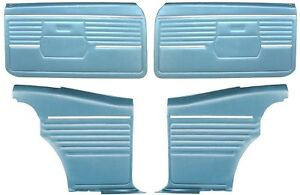 1968 Camaro Coupe Pre assembled Front Rear Door Panel Kit Medium Blue