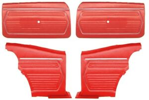 1969 Camaro Coupe Pre assembled Front Rear Door Panel Kit Red