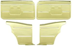 1968 Camaro Coupe Standard Door Panel Kit Pre assembled Oe Style Ivy Gold