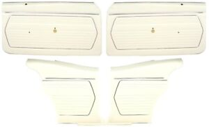 1969 Camaro Coupe Standard Door Panel Kit Pre assembled Oe Style White