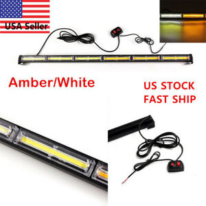 108w Cob Led Emergency Hazard Warning Windshield Dash Strobe Light Amber
