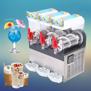 45l Frozen Drink Slush Slushy Making Machine Smoothie Ice Maker 3x15l