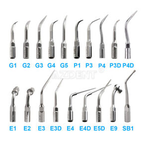 19types Dental Ultrasonic Scaler Scaling Endo Perio Tip Fit Ems Woodpecker G P E