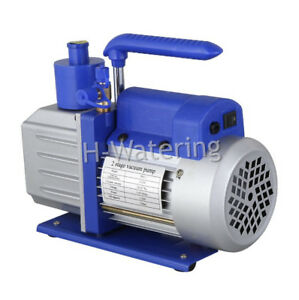 2 Stage Refrigeration Rotary Vane Air Vacuum Pump 220v At 3 5cfm Hvac Ac Tool Eu