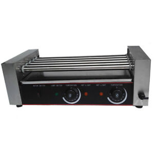 5 Pcs Commercial Roller Home Use Hot Dog Roller Grilling Cooker Machine Gray
