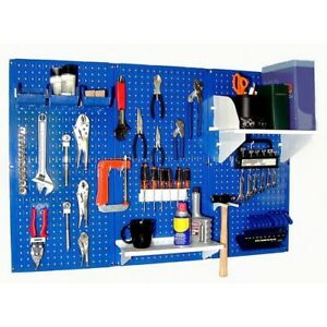 Pegboard Tool Storage System Kit Peg Accessories Metal Wall Mount Panel Board