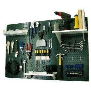Pegboard Tool Storage Kit Peg Accessories Metal Wall Mount Panel Board Garage
