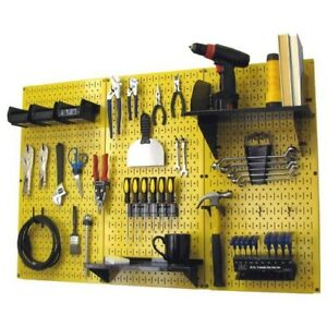 Pegboard Tool Storage Kit Garage Peg Accessories Metal Wall Mount Panel Board