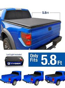Black Roll Up Tonneau Cover For 2009 2018 Dodge Ram 1500 5 8ft 69 6in Bed
