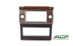 1969 1970 69 70 Ford Mustang Radio Original Style Dash Bezel W Woodgrain Decal