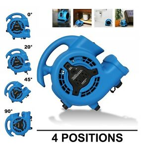 High Velocity Air Mover Carpet Floor Dryer 3 Speed Blower Fan 2 Power Outlets