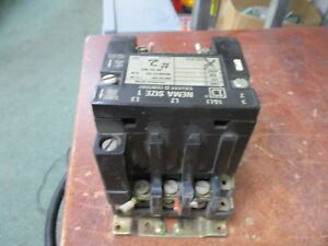 Square D Size 1 Contactor 8536 Scg 3 120v Coil 600v Used