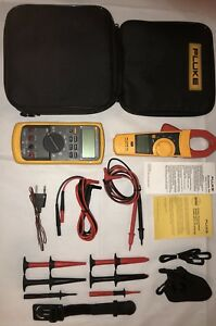 Fluke 87v e2 Industrial Combo Kit xtra Acces Fluke 335 All Mint near Mint