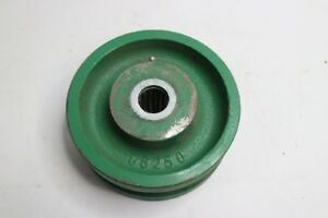 Lot Of 2 V grooved Iron 6 Wheel Casters Green 06250