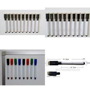 New 100 Pieces Dry Erase Markers With Eraser Magnet Low odor Black