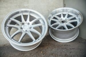 Aodhan Ds02 18x9 5 30 18x10 5 22 5x114 3 Silver Is250 Rx8 Supra Sc430 Mustang