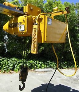 Robbins Myers 5 Ton Electric Wire Rope Hoist With Trolley