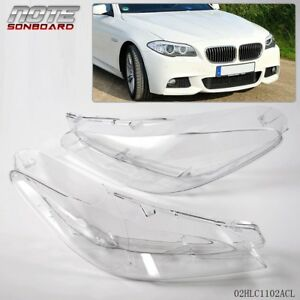 For Bmw F10 F18 520 523 525 535 530 10 14 Headlight Clear Cover Lens 2011 2012