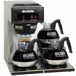 Bunn Commercial Restaurant Pourover Coffee Maker With 3 Warmers New