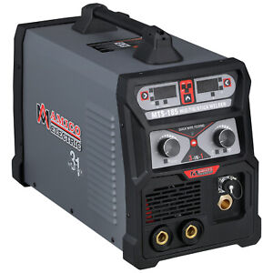 Mts 185 Amp Mig Flux Cored Wire Tig Torch Stick Arc 3 in 1 Combo Welder New