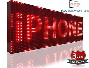 15 X 63 Red Outdoor Led Sign Digital Text Logo Animation Open Display Business