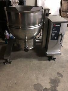 Groen 40 Gallon Tilting Kettle Dee 4t 40 Tilt Soup Sauce Commercial Kitchen