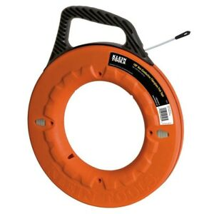 Klein Tools 100 Ft Non conductive Fiberglass Fish Tape Electrical Wire Puller