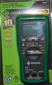 Greenlee Auto Ranging Multimeter Dm 45 600v cat Lll