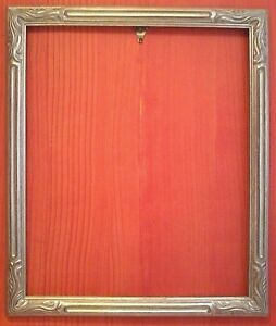16 X 20 Art Nouveau Standard Picture Frame Carved Silver Leaf All Wood 2 Wide