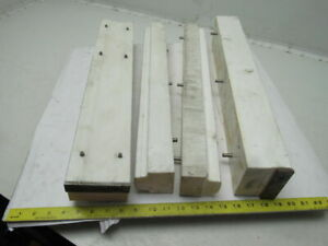 Machinable Acetal Delrin Blocks Lot 22 x 2 1 2 x4 Smaller See Info Lot Of 4