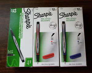 Fine tip Color Sharpie Pens Lot 3 X 12ct