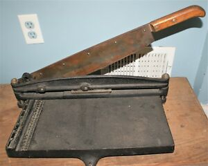 Antique Gestetner Office Trimmer Paper Cutter Guillotine Heavy Duty England