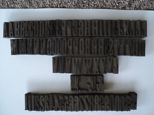 Wooden Letterpress Blocks 1 5 8 Caps Assorted Punctuation Numbers