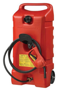 14 Gal Flo N go Duramax 06792 Red Portable Wheeled Gas Fuel Container