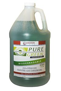 Benchmark Fluids Pure Green Concentrated Cleaner degreaser 1 Gallon Jug