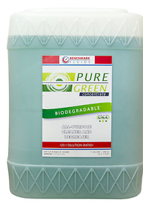Benchmark Fluids Pure Green Concentrated Cleaner Degreaser 5 Gallon Tote