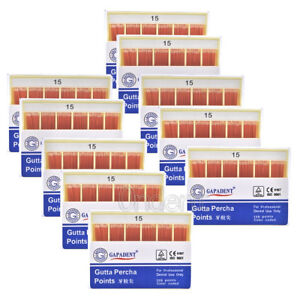 100xgapadent Dental Gutta Percha Points 0 02 15 40 120points Color Coded Fda Ce